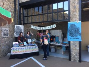 Studio Two Three live printing at Blue Bee Cider's Grand Opening at Summit Stables in October 2016. (Photo: Charles J. Williams)
